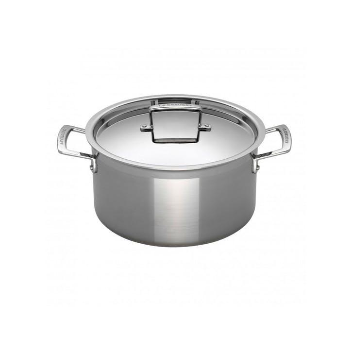 3-Ply Stainless Steel Deep Casserole - 24cm