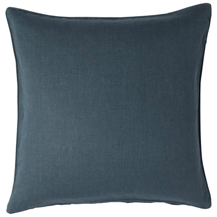 Linen Cushion, Ink Blue