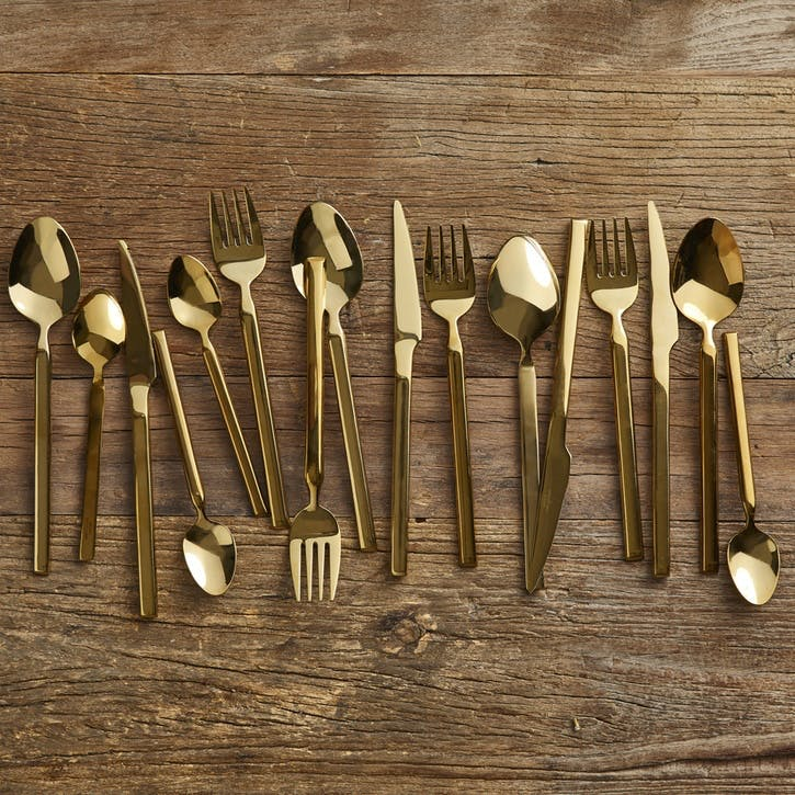 Jewel Gold Cutlery Set, 16 Pieces