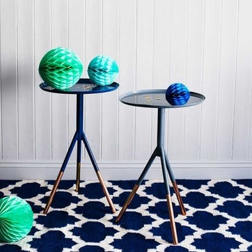 Tripod Side Table with Copper Feet