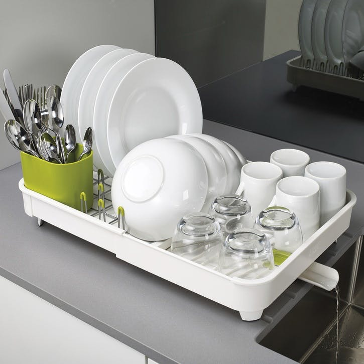 Extend Expandable Dishrack, White