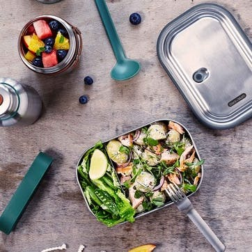 Stainless Steel Lunch Box, 1L, Ocean