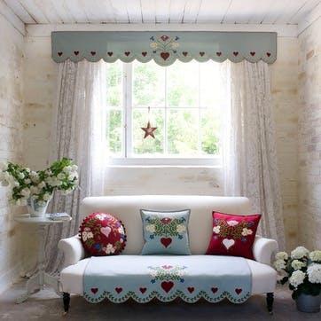 Alpine Rose Cushion, 46 x 46cm, Red
