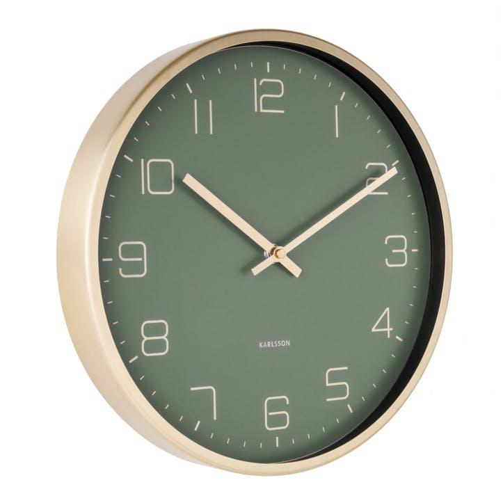 Elegance Wall Clock, Green