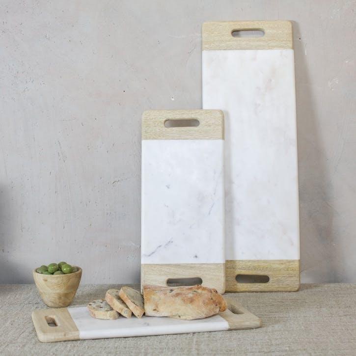 Bwari Marble Platter - Large; White