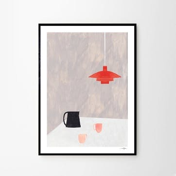 Orange Pendant - Ana Frois Art Print D30cm x H40cm