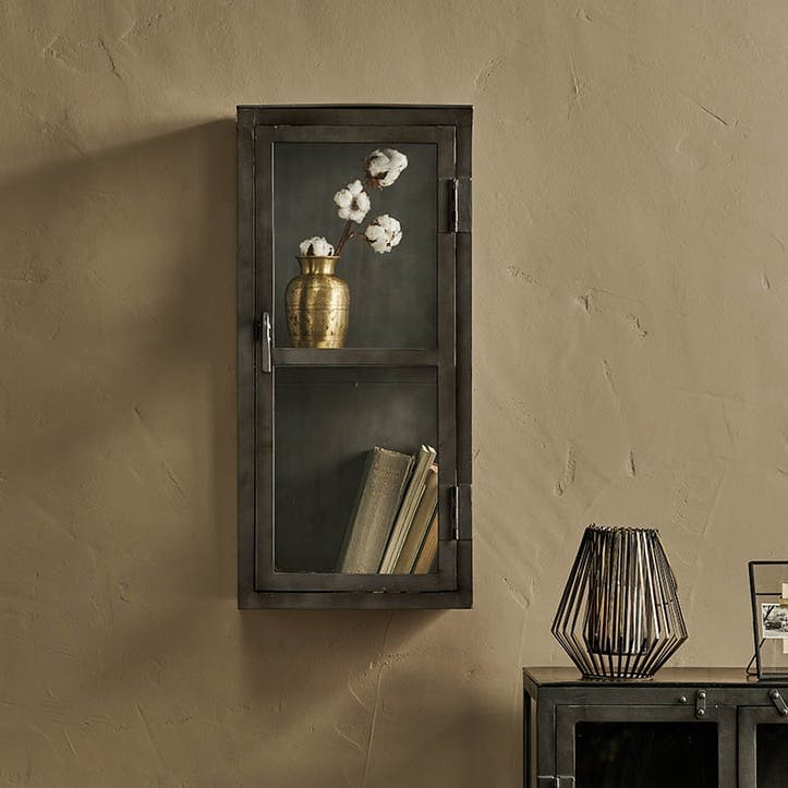 Tiko Iron & Glass Wall Hung Cabinet