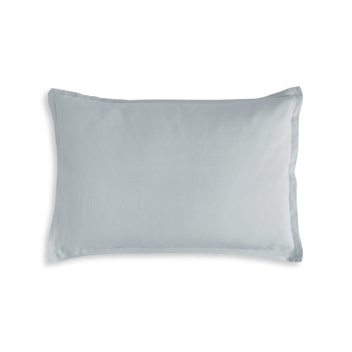 Moustier Oxford Pillowcase, King, Duck Egg