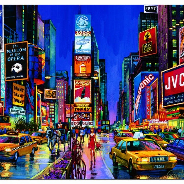 Neon Times Square, New York 1000 piece Jigsaw Puzzle