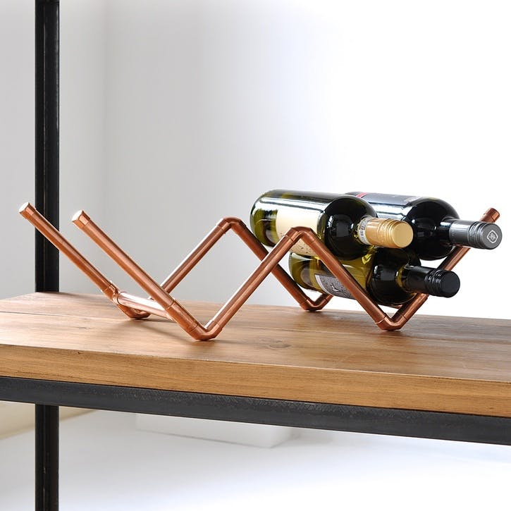 Copper Wine Rack - 52 x 20cm; Copper