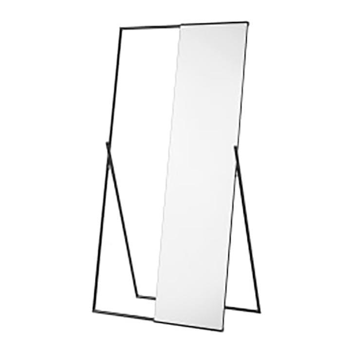 Huglin mirror & clothes rail, H153 x W34 x D34cm, Black