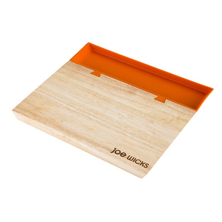 Chopping Board with Food Tray, Small, Orange