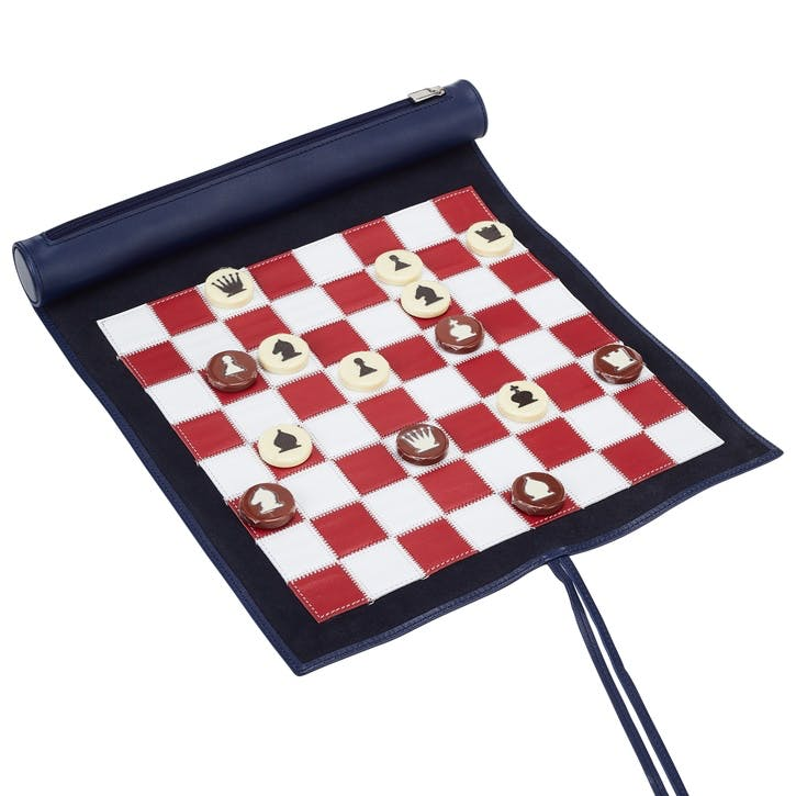 Small Travel Chess Set, Sapphire