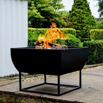 Windermere, Outdoor Firebowl, Black