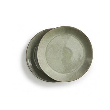 Osby Dinner Plates, Set of 4, Green