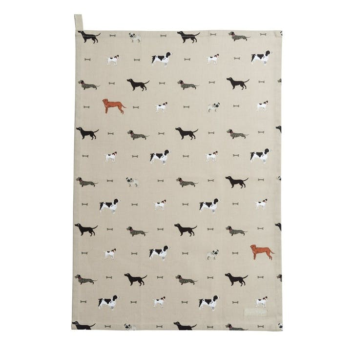'Woof' Tea Towel