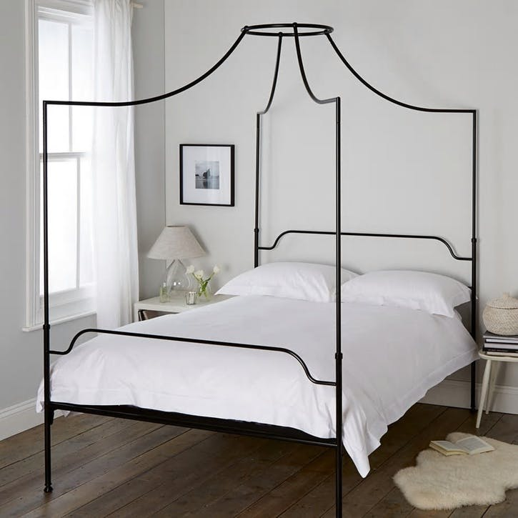 Beaumont Four Poster Bed, King, Black