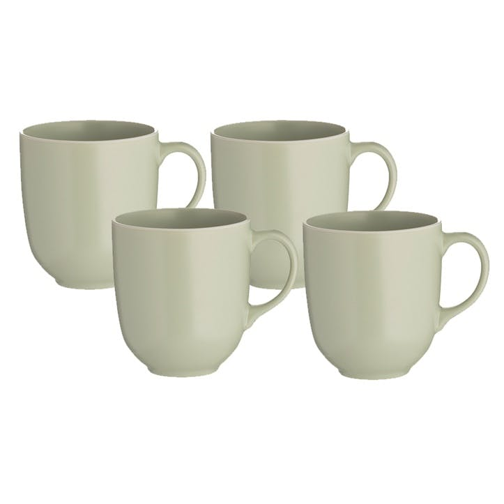 Classic Collection Set of 4 Mugs, Green