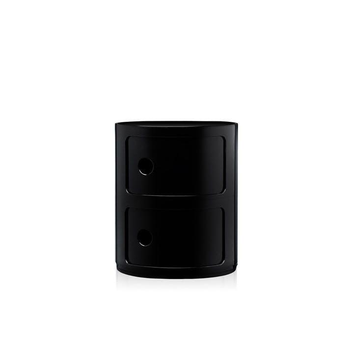 Componibili, 2 Door Cabinet, Black