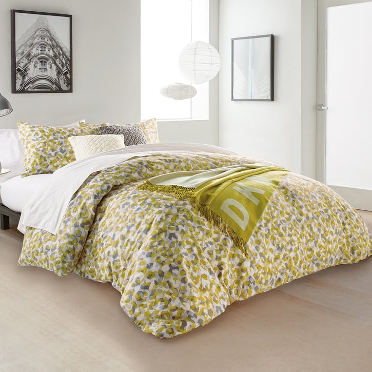 Wild Geo Super-King Duvet Cover, Ochre