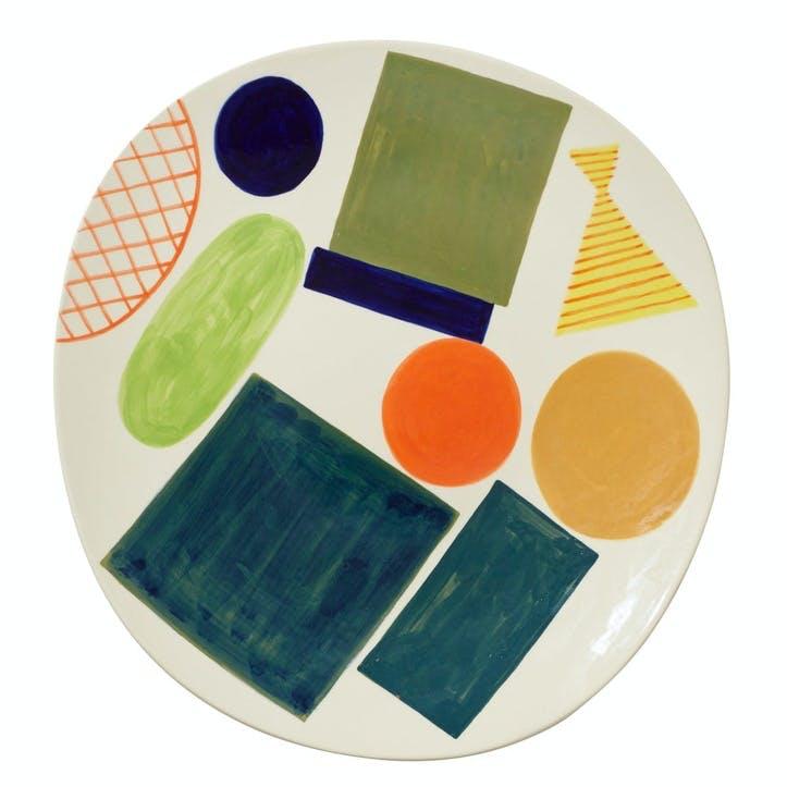 Block Line Platter, 38cm, Multi