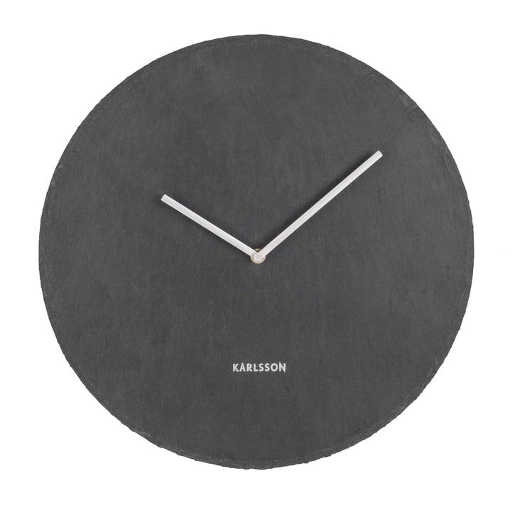 Slate Wall Clock, Black