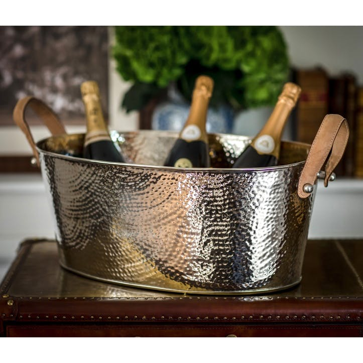 Hammered Champagne Bath - Large