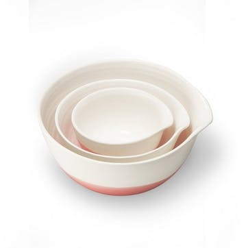 Colour Dip, Nested Bowls, Pink
