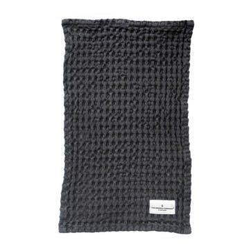 Waffle Wash Cloth, L40 x W25cm, Dark Grey