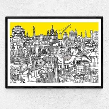 Lizzie Presst, London Jungle Framed Art Print