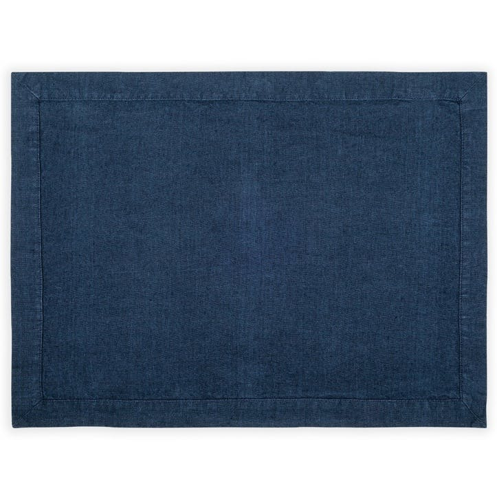 Linen Placemat; Midnight Blue