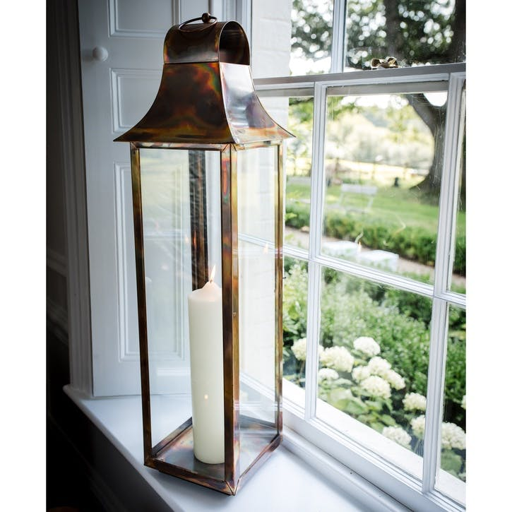 Burnished Copper Tonto Lantern - Large