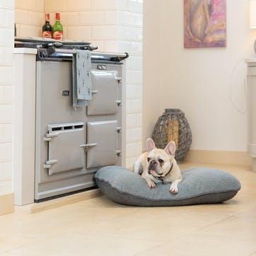 Herringbone Tweed Cushion, S/M, Grey