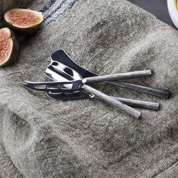 Darsa Cheese Knife Set; Brushed Silver