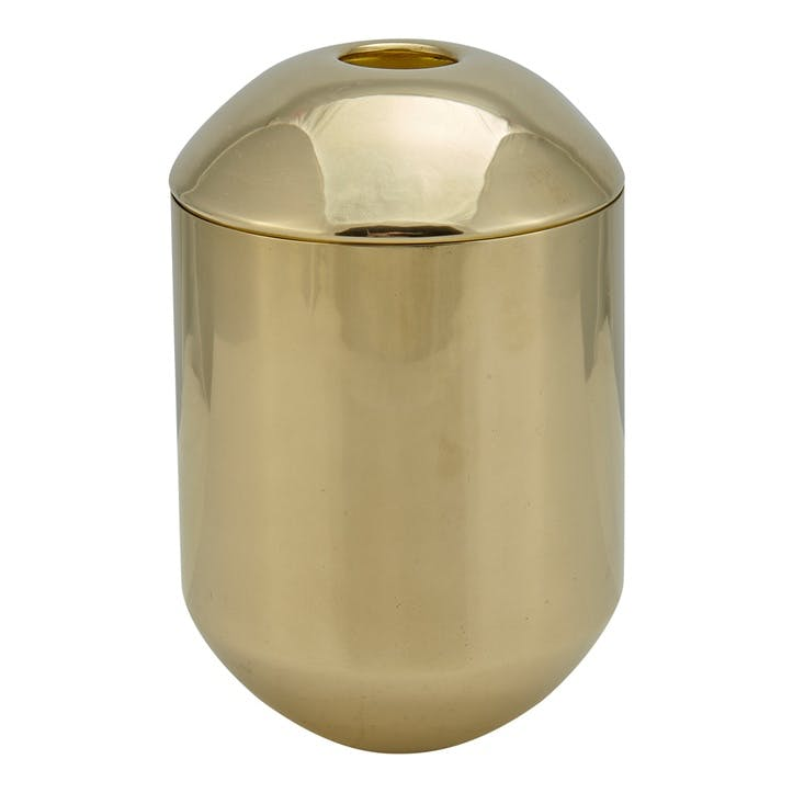 Form Tea Caddy; Brass