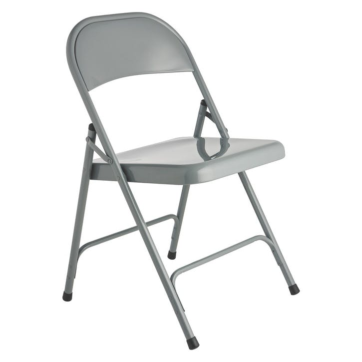 Macadam Folding Chair, Cool Grey