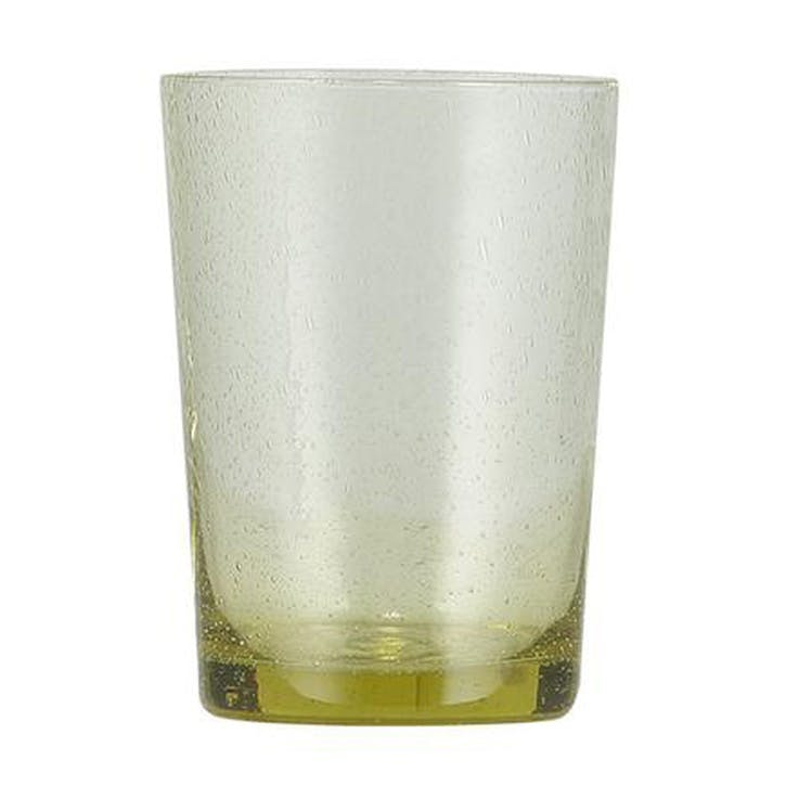 Tuscan Yellow Glass Tumblers, Set of 6