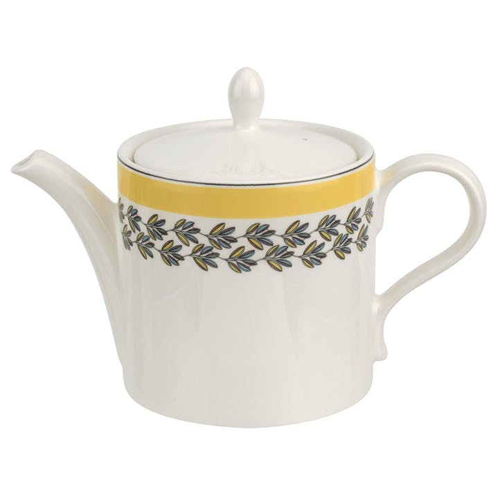 Westerly Teapot, 2pt; Yellow Band