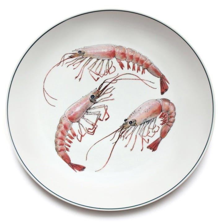 Seaflower Shrimp Charger Platter, 32cm, Pink
