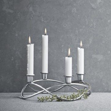 Season Candleholder, Silver