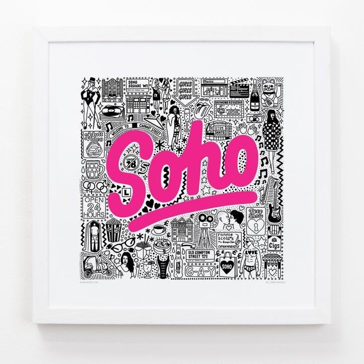 Hometown Soho Print, 33cm
