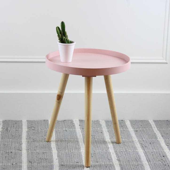Larsen Side Table, Small, Pink