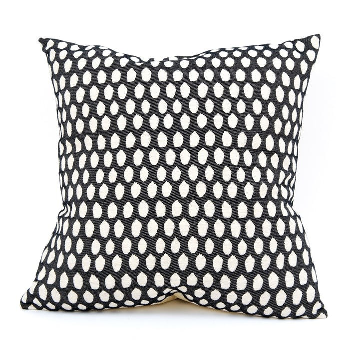 Elca Cushion -  60cm; Linen On Black