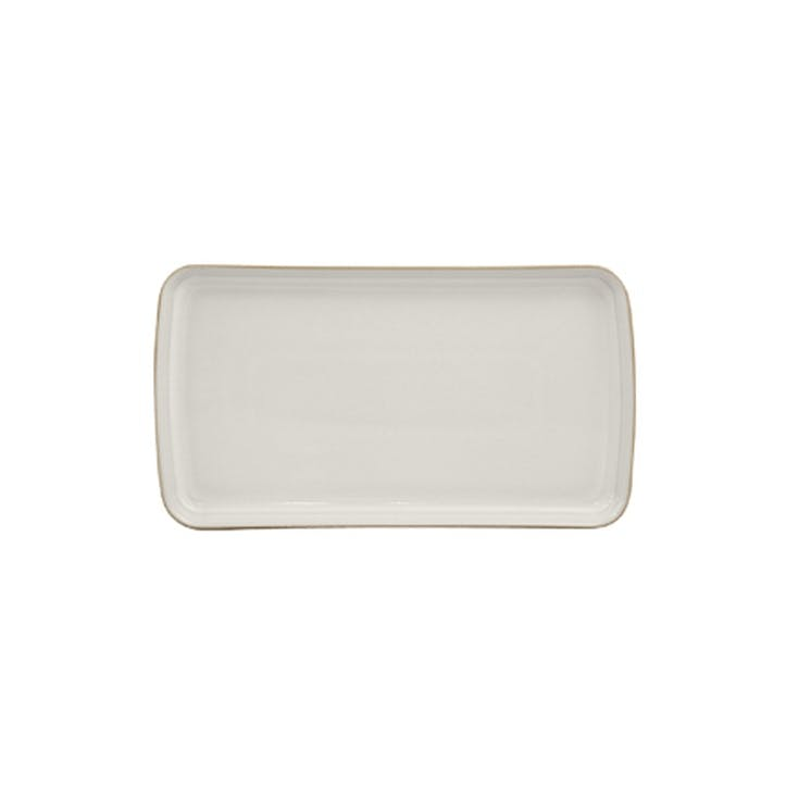 Natural Canvas Platter, 26cm, Cream