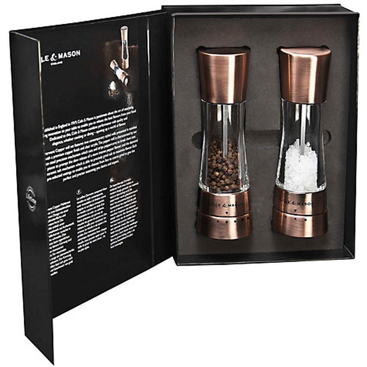 Derwent Salt & Pepper Gift Set, Copper