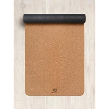 Eco Cork Yoga Mat, Black