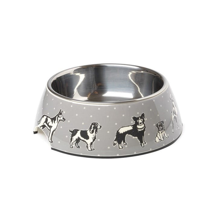 House Of Paws Polka Dogs Print Bowl - Medium
