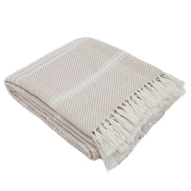 Oxford Stripe Blanket, 2.3 x 1.3m, Shell