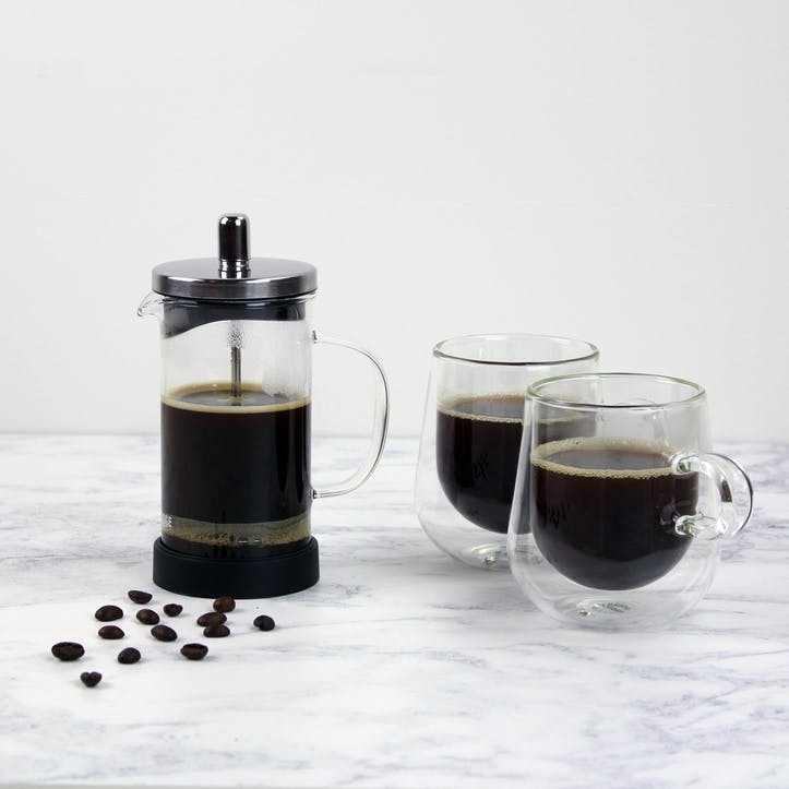 3 Cup Classic Glass Cafetiere, 350ml