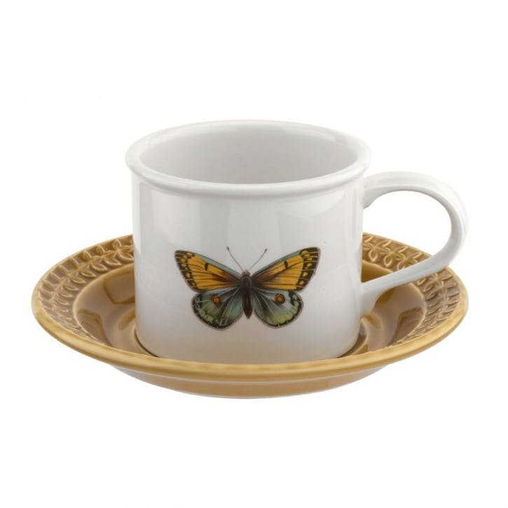 Breakfast Cup & Saucer, Amber